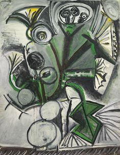 PABLO PICASSO 1881 - 1973 BOUQUET Dated 7.11.69 II (on the reverse) Oil on canvas