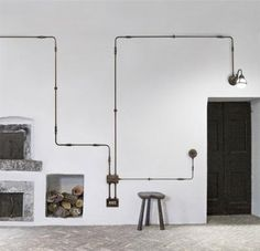 To create a stunning industrial feel for your home, surface mounted wiring is a highly customisable choice. Available in components, this range features various