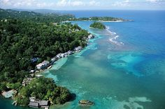 A birds-eye view of San San, the site of award-winning hotel and recording studio, GeeJam., Courtesy of Geejam Hotel.