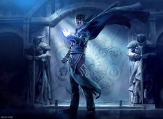 Striking Fantasy Digital Art - Jace, Living Guildpact