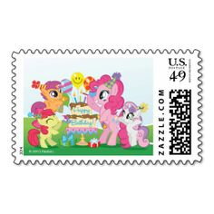 My Little Pony Birthday Party Postage. Cute My Little Pony birthday items to personalize. Surprise Birthday Gifts, Happy Birthday Parties, Birthday Ideas, 3rd Birthday, Themed Parties, My Pretty Pony, My Little Pony Birthday Party, My Lil Pony, Little Poney