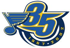 St. Louis Blues Anniversary Logo (2002) - 35th Anniversary of the St. Louis Blues