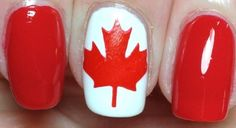 Yes, Im pinning more Canada Flag nails! Davison Davison Brookes and I have to have great nails in Sochi! Gel Nail Art Designs, Pretty Nail Designs, Nails Design, Great Nails, Cute Nails, Winter Nails, Summer Nails, Flag Nails, Wow Nails