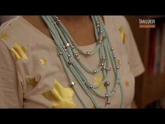 Cómo hacer un collar de tela | @iMujerHogar - YouTube