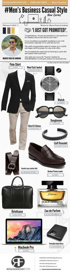 Men's Business Casual Style: Job Promotion Outfit | Royal Fashionist