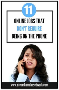Looking for a non phone work at home job? Here are 11 Online Jobs that Don't Require Being on the Phone