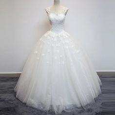 vintage lace flower cap sleeves see through back ball gowns wedding dresses 2017
