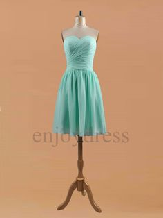 Custom Mint Green Bridemaid Dresses 2014 Short by enjoydress