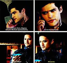 First time Alec called Magnus his boyfriend on screen!!!!!!! It's so adorable