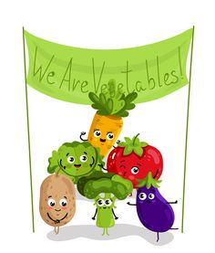 Funny vegetable isolated cartoon characters vector image on VectorStock Funny Vegetables, Vegetable Cartoon, Emoticon Faces, Vegetable Illustration, Fruit Cartoon, Happy Smile, Cartoon Characters, Painted Rocks, Eat Healthy