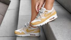 finest selection 571b3 bb180 Nike Air Max 90 1   Guava Ice Gold White Gum   Womens Trainers  AQ1273-800    Nike