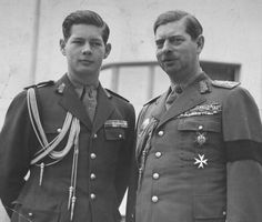 Two kings: Michael I and Carol II of Romania (1938)