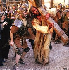 In this image of the movie The Passion of the Christ exposes audience to immense amounts of graphic violence and controversy.