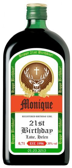 Personalized Jagermeister Labels by MAGICPRINTSHOP on Etsy