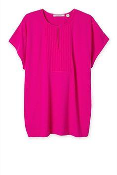 Silk Spliced Bib T-Shirt