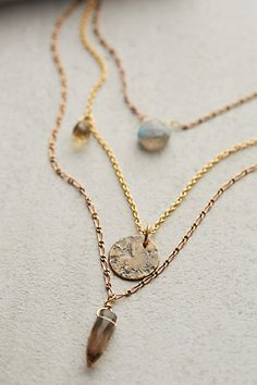Aussois Layered Necklace #anthrofave #anthropologie.com