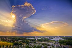 Photograph of the clouds over Disney taken by Lisa Bettany (Mostly Lisa)