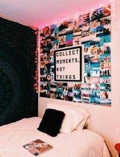 VSCO - sweetlifeee Cute Room Ideas, Cute Room Decor, Diy Room Ideas, Room Decor Diy For Teens, Cute Bedroom Ideas For Teens, Picture Room Decor, Bedroom Ideas For Small Rooms Diy, Diy Dorm Decor, Cheap Room Decor