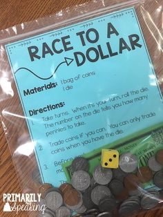 math Activities to Practice Counting Coins 4 comments Freebies, math, math games, Money Money is one of my favorite math topics. Maybe it's because it lends itself so easily to hands-on learning Maths Guidés, Math Classroom, Second Grade Math, First Grade Math, Second Grade Centers, Third Grade Math Games, 3rd Grade Activities, Math Activities For Kids, Leadership Activities