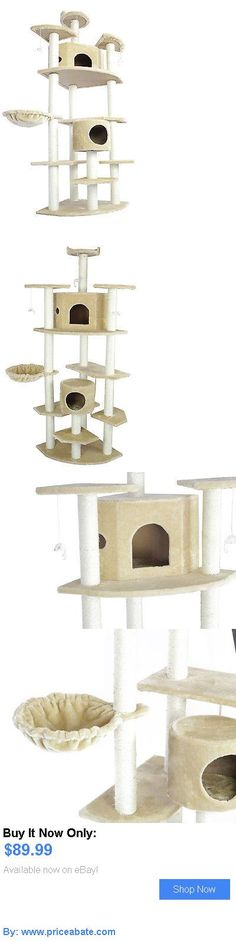 Animals Cats: New 80 Beige Cat Tree Condo Furniture Scratch Post Pet House 38B BUY IT NOW ONLY: $89.99 #priceabateAnimalsCats OR #priceabate