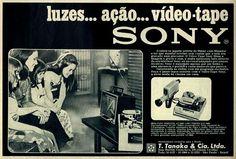 Sony #Brasil  #anos70  #retro #anunciosAntigos #vintageAds