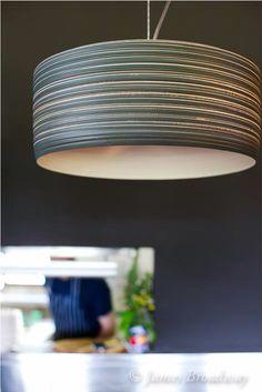 Photo by James Broadway. Stoneware pendant light by www.porcelume.com.au Modern Kitchens, Stoneware, Broadway, Pottery, Ceiling Lights, Ceramics, Lighting, Pendant, Home Decor