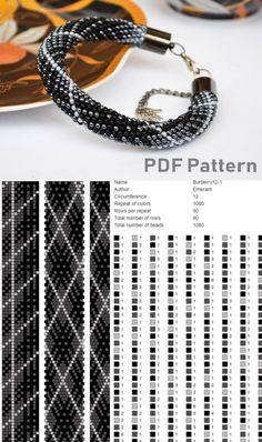 Bead crochet pattern for bracelet seed bead bracelet pdf beading patterns Crochet Bracelet Pattern, Crochet Beaded Bracelets, Bead Crochet Patterns, Bead Crochet Rope, Seed Bead Patterns, Beaded Bracelet Patterns, Jewelry Patterns, Beading Patterns, Seed Beads