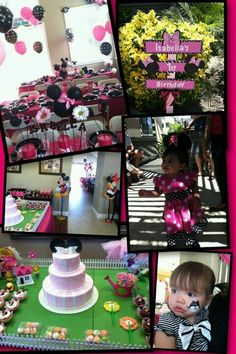 My babies 1st Bday Minnie Mouse party
