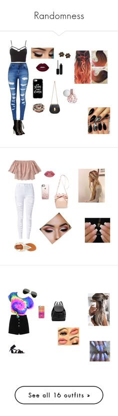"""""""Randomness"""" by jazzu223 ❤ liked on Polyvore featuring Charlotte Russe, WithChic, Marc Jacobs, Casetify, Chloé, Chantecler, plus size clothing, Abercrombie & Fitch, Olivia Miller and Mansur Gavriel"""