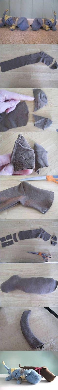 DIY Create a Sock Puppy DIY Create a Sock Puppy by diyforever