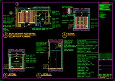 Sauna and steam room details (dwgAutocad drawing)