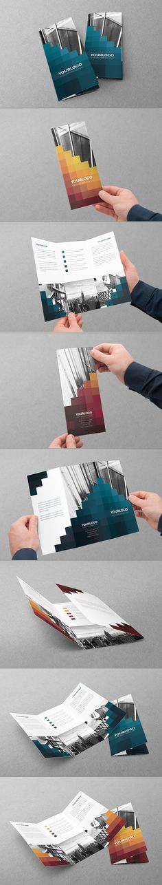 Pixels Trifold. Download here: http://graphicriver.net/item/pixels-trifold/6602713?ref=abradesign #design #brochure #trifold