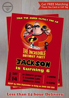 The incredibles 2 invitationthe incredibles birthday digital file the incredibles invitation the incredibles invite the incredibles party incredibles birthday incredibles filmwisefo