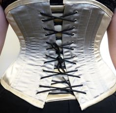Polyester and steel boned corset from Sew In Brighton sewing school