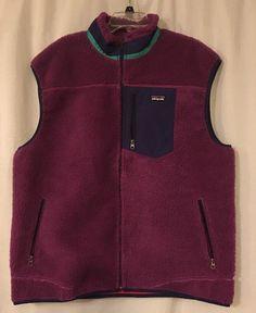 Patagonia Mens Retro-X Thick Pile Fleece Vest Jacket XXL Purple Blue Green #Patagonia #Vest