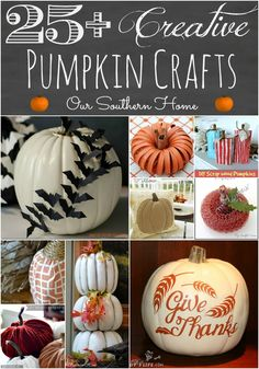 Our Southern Home | Creative Pumpkin Crafts | http://www.oursouthernhomesc.com