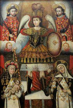 """ESTILOS Y CAMBIOS FORMALES EL SUEÑO DEL NIÑO: Barroco Cusqueño Siglo XVIII, Óleo sobre lienzo, 142.5 cm x 120.8 cm """"Los p..."""