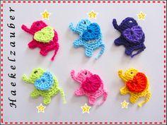 2 Bunte Elefanten (Freie Farbwahl) von KUNTERBUNTE KINDERWELT auf DaWanda.com