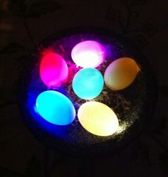 DYI L.E.D Easter Eggs.  Perfect for late night Easter egg hunts. By Instructables Member PaleoDan.