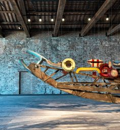 turkey suspends vessel made of discarded materials at the venice architecture biennale