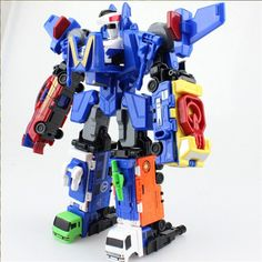 cool Big Transformation Robot Cars Assembly Deformation 6 in 1 Action Figure Toys for boys Juguetes Birthday gift Brinquedos