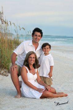 beach family portrait