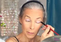 Apply eyeshadow on the lids | Glam Makeup For Mature Skin Tutorial