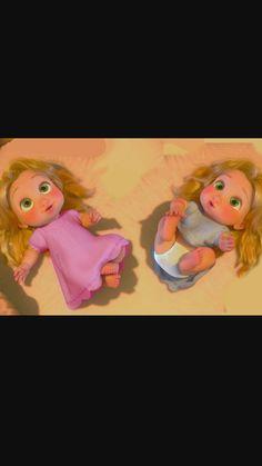 If Rapunzel and Elsa were twins