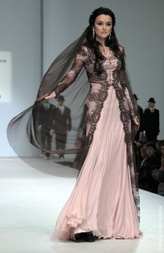 Traditional Chechen dress from the Firdaws collection by Chechen designers Laura and Hedi Medni. - Chechnya