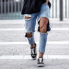 To find out about the Men's Fashion Casual Big Broken Hole Jeans at Yatacity, part of our latest pants ready to shop online today! Black Ripped Jeans, Skinny Jeans, Streetwear Men, Latest Fashion Clothes, Men's Fashion, Slim Fit Trousers, Best Jeans, Cool Sweaters, Denim Pants