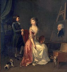 "Possibly by Margeurite Gérard, possibly ""The Artist's Sister in Her Studio, Painting her Husband's Portrait"" Zimmerli Art Museum"