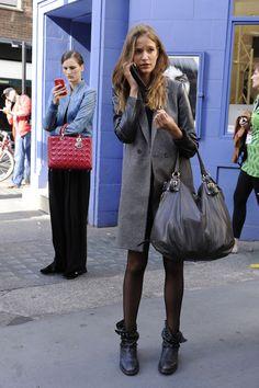 Stylizacje modelek na London Fashion Week, fot. Imaxtree