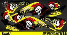 Kit Déco Quad / Atv Decal Kit Suzuki LTZ 400 - Punk Skull Quad Atv, Iron Man Birthday, Punk, Decals, Comic Books, Skull, Kit, Comics, Ebay