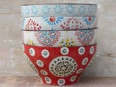 Bohemian Ceramic Bowl Set by horsfall & wright, the perfect gift for Explore more unique gifts in our curated marketplace. Ceramic Bowls, Ceramic Pottery, Crafts To Do, Arts And Crafts, Hand Painted Mugs, On The High Street, Own Home, Bowl Set, Boho